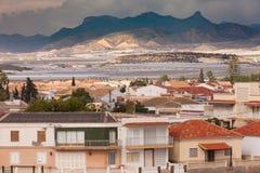 House buildings landscape Puerto de Mazaron Spain Stock Photos