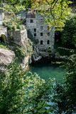 House buildt on a gorge stock image