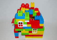 A house built with blocks Stock Photo
