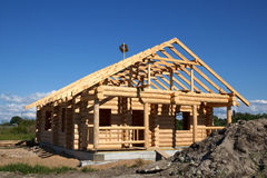 House built from logs Royalty Free Stock Photo