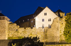 House built on old castle walls, Monschau Royalty Free Stock Photos