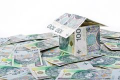House built with Polish money Stock Photos