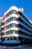 House built in the style of modernism. In Katowice, Poland royalty free stock photography
