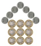 House built of coins Royalty Free Stock Photos