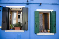 House in Burano Island Stock Photography