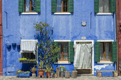 House in Burano Royalty Free Stock Images