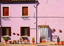 House in Burano, Venice lagoon, Italy Royalty Free Stock Photography