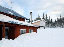 House buried in snow Stock Image
