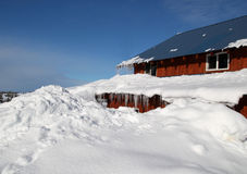 House buried in snow Royalty Free Stock Images