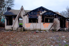 House Burned in Major Fire Stock Images