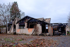 House Burned in Major Fire Royalty Free Stock Images