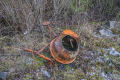 House burned to the ground (concrete mixer) Stock Photography