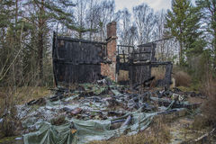 House burned to the ground Royalty Free Stock Image