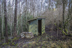 House burned to the ground (outhouse) Royalty Free Stock Photos