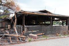 House burnt down Stock Photo
