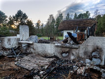 House burnt down Royalty Free Stock Images