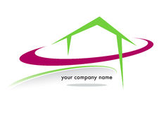 House business brand. With colored circles on a white background Royalty Free Stock Photography