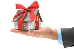House in businessman's hand Royalty Free Stock Photos