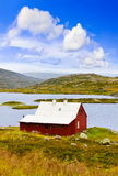 House in Buskerud region of Norway. Nature and travel background Stock Image