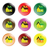 House button icons Royalty Free Stock Image