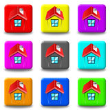 House button set square Stock Photo