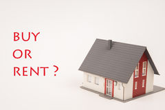 House buy or rent. House with the words buy or rent Stock Images