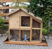 House-cage for guinea pigs Royalty Free Stock Image
