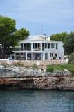 House at Cala en busquets. A grand house at Cala en busquets, the cove just outside the port of ciutadella de menorca Royalty Free Stock Photos