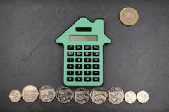 House Calculations UK Royalty Free Stock Photo