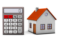 House With Calculator royalty free illustration