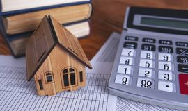 House calculator documents royalty free stock photography
