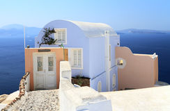 House with caldera view Royalty Free Stock Image