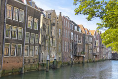 House on a canal in Dordrecht, Royalty Free Stock Photos