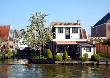 House on the canal, Edam, Netherlands. House on the canal in a small city Edam in Netherlands royalty free stock image