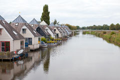 House in a canal, Holland Royalty Free Stock Images