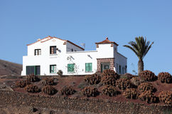 House on Canary Island Lanzarote Stock Images