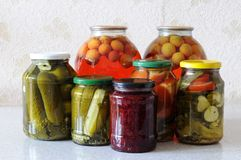 House canned food. Stock Images