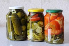 House canned food. Royalty Free Stock Photo