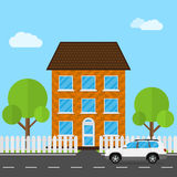 House and Car Stock Photography