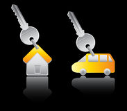 House and car key Stock Image