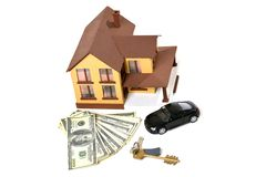 House, car, keys Royalty Free Stock Photography