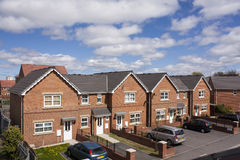 House with car park. New house with car park Royalty Free Stock Photography