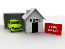 House with car for sale Royalty Free Stock Photos