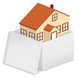 House in cardboard box Royalty Free Stock Images