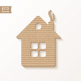 House of cardboard texture. Stock Images