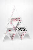 House of cards. On a white background Stock Photography