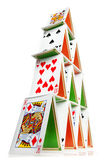 House of cards. Low angle photo of a 4 layer house of cards Stock Image