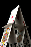 House of Cards on Black Stock Photo