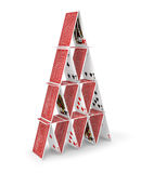 House of cards 3D Stock Photo