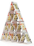 House of cards isolated on white Stock Image